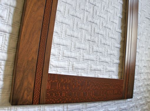 Custom Made Exotic Walnut And Lacewood Mirror Frame
