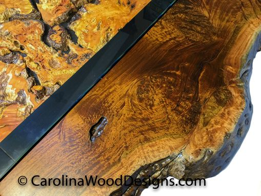 Buy A Hand Crafted Ipe Burl Table With Live Edge Made To