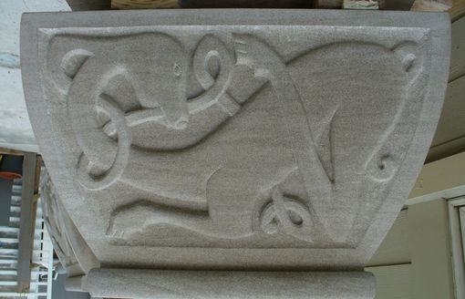 Custom Made Limestone Celtic Fireplace