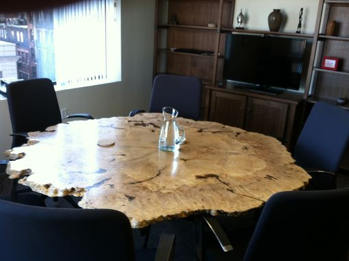 Custom Round Live Edge Maple Burl Table By Blackington