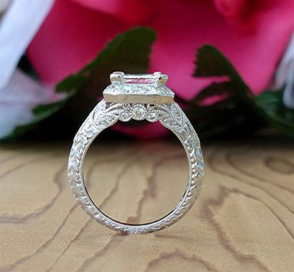 Custom Made 2.73ct Radiant Cut Platinum Diamond Engagement Ring