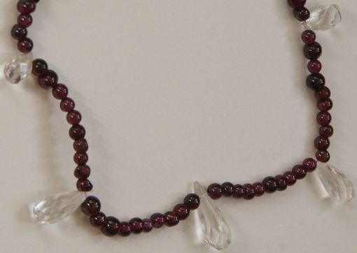Custom Made Crystal And Garnet Necklace