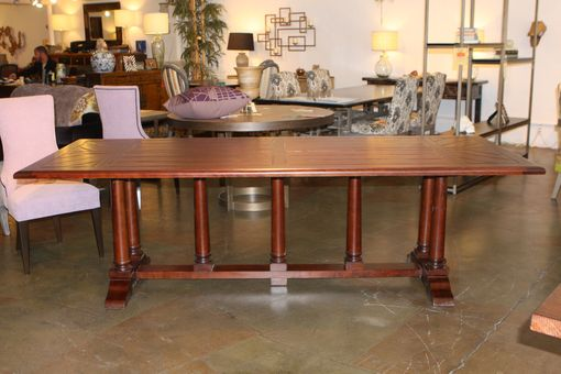 Custom Made Classic Old World Refectory Trestle Table