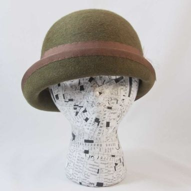 Custom Made Cloche Forest Green Trish