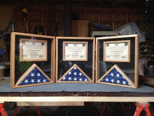 Custom Made Flag And Certificate Display