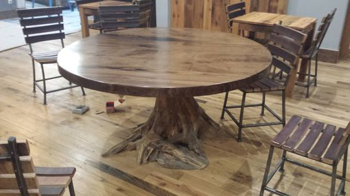 Custom Made Walnut Live Edge Table With Custom Root Bases
