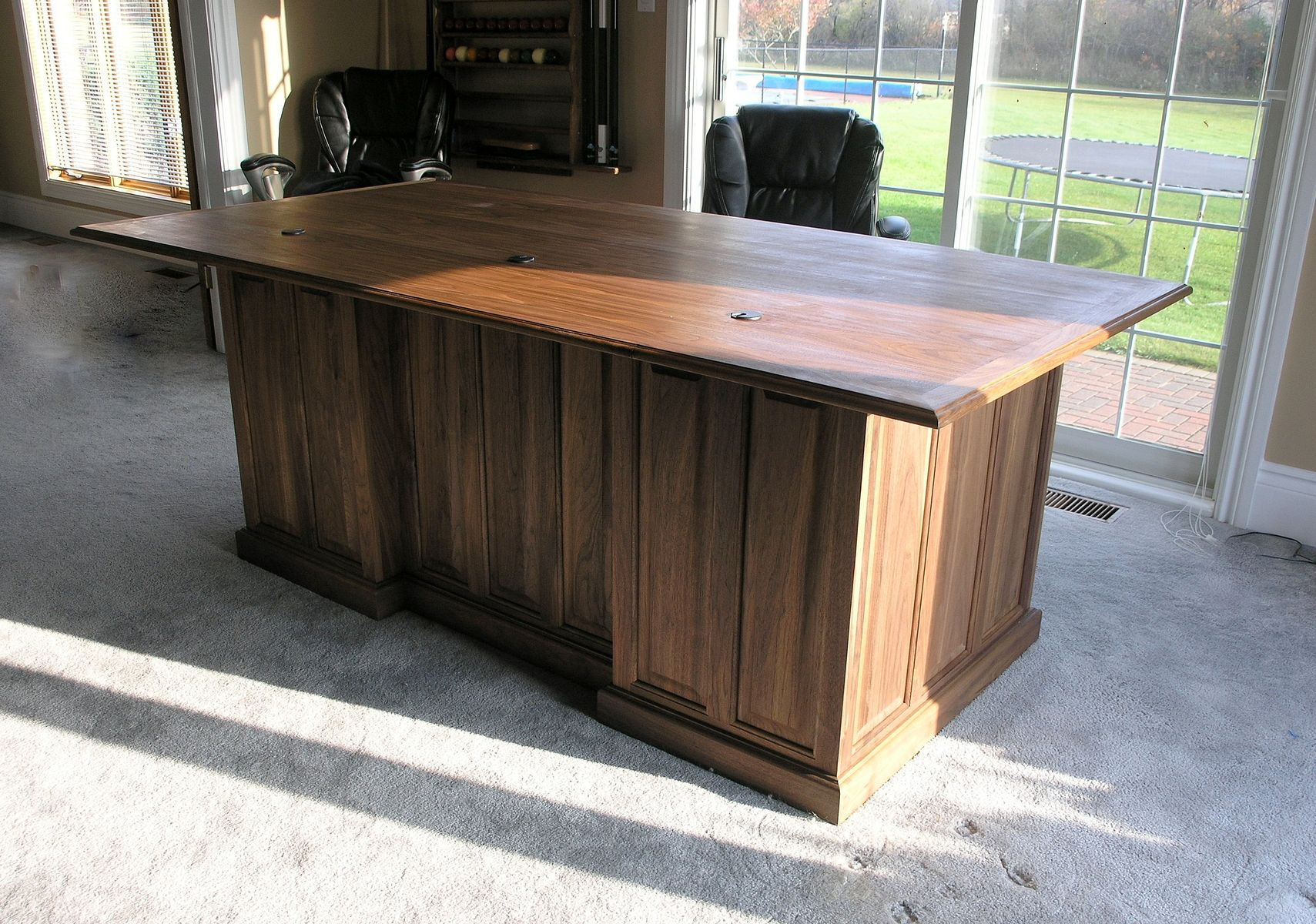 Custom Made Executive Desk In Walnut. by James H. Little