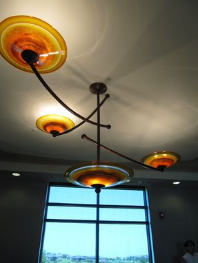 Custom Made Equilibria: Custom Glass Chandelier