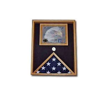 Custom Made Military Flag And Certificate Case