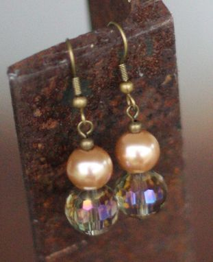 Custom Made Lap Of Luxury ~ Champagne Crystal Pearl Earrings