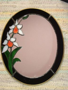 Custom Made Orchid Oval Mirror