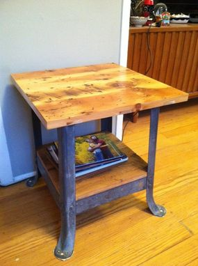 Custom Made Salvaged End Table