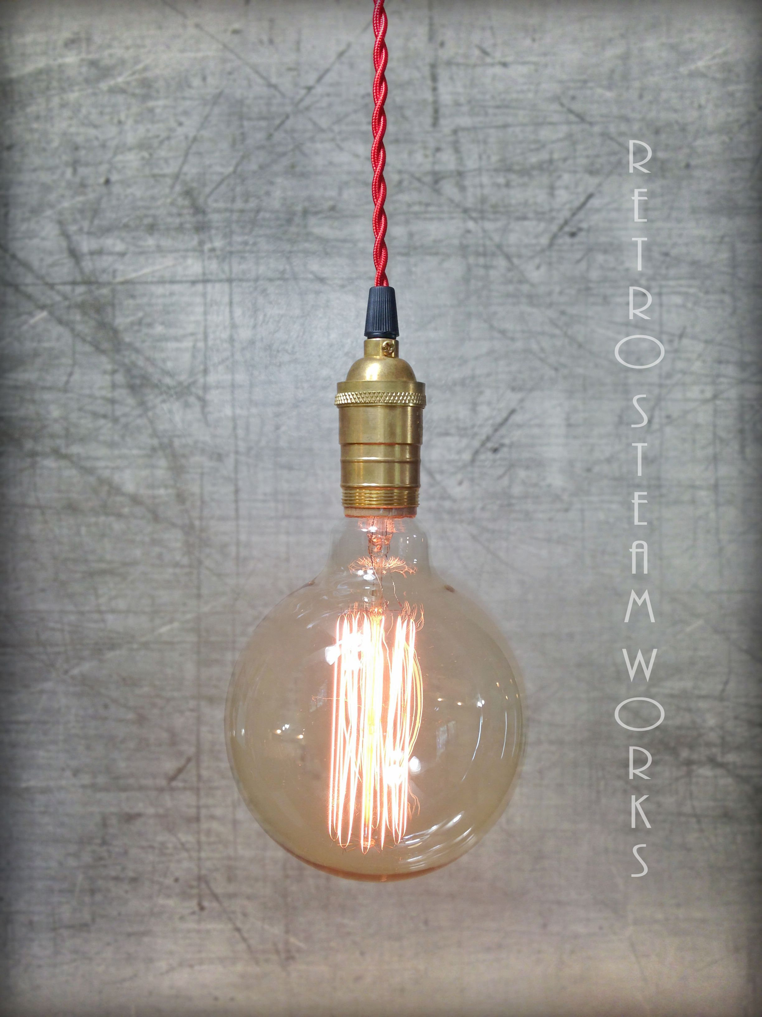 Hand made bare edison bulb industrial loft pendant light plug in or custom made bare edison bulb industrial loft pendant light plug in or hardwired aloadofball Image collections