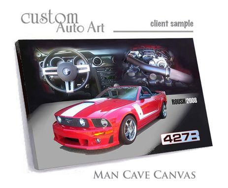 Custom Made Man Cave Canvas - Automotive Car Art