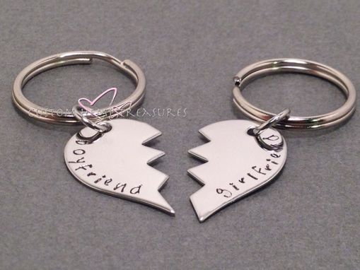 Custom Made Broken Heart Keychains