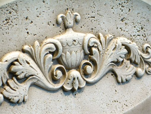 Custom Made Relief Carved Classical Travertine Tile