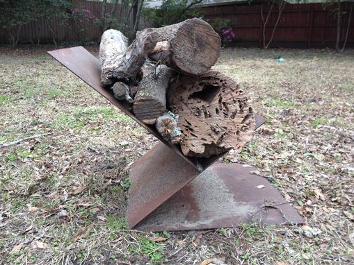 Custom Made Steel Firewood Holder