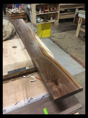 Custom Made Solid Black Walnut Live Edge Floating Shelf