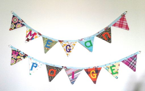 Custom Made Baby Name Nursery Banner