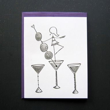 Custom Made Damsel With A Drink Stationery Set