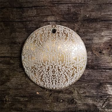 Custom Made Nature Inspired Etched Brass Pendant  (No.3) Frost