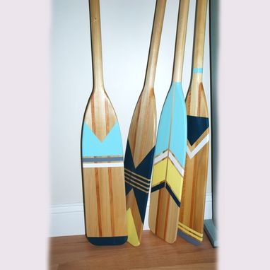 Custom Made Painted Canoe Paddle Set Of Four