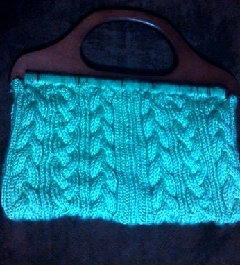 Custom Made Women's Green Knit Cable Purse