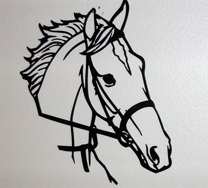 Custom Made Horse Cut Out Of Steel With Or With Out Paint