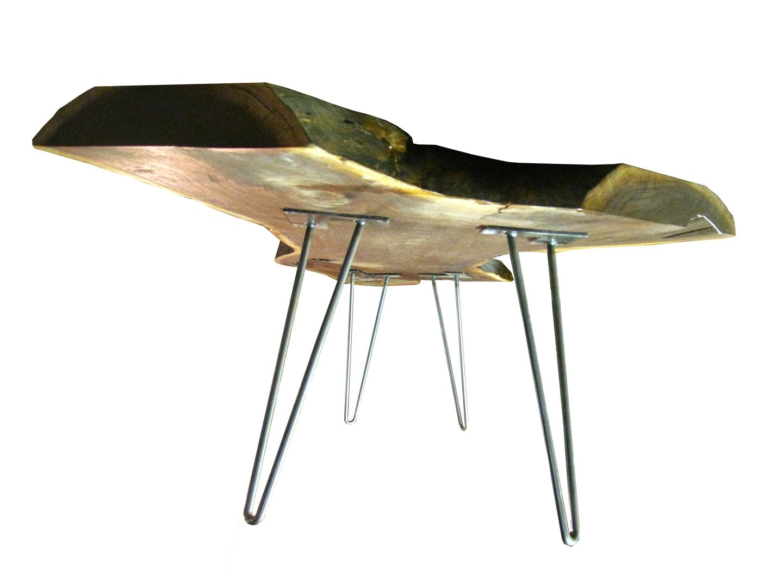 Black Walnut Coffee Table Handmade Live Edge Black Walnut Coffee Table With Hairpin Legs By