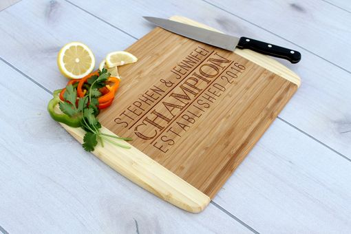 Custom Made Personalized Cutting Board, Engraved Cutting Board, Custom Wedding Gift – Cb-Bam-Champion