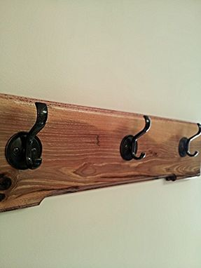 Custom Made Dark Hickory 3 Coat Rack