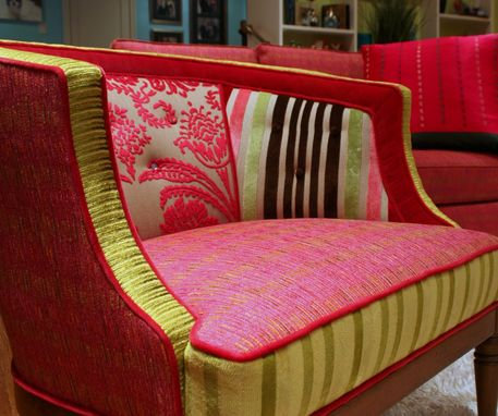 Custom Made Upholstered Chair Vintage 60'S Tub Chair
