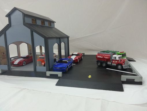 Custom Made Wooden Toy Garage
