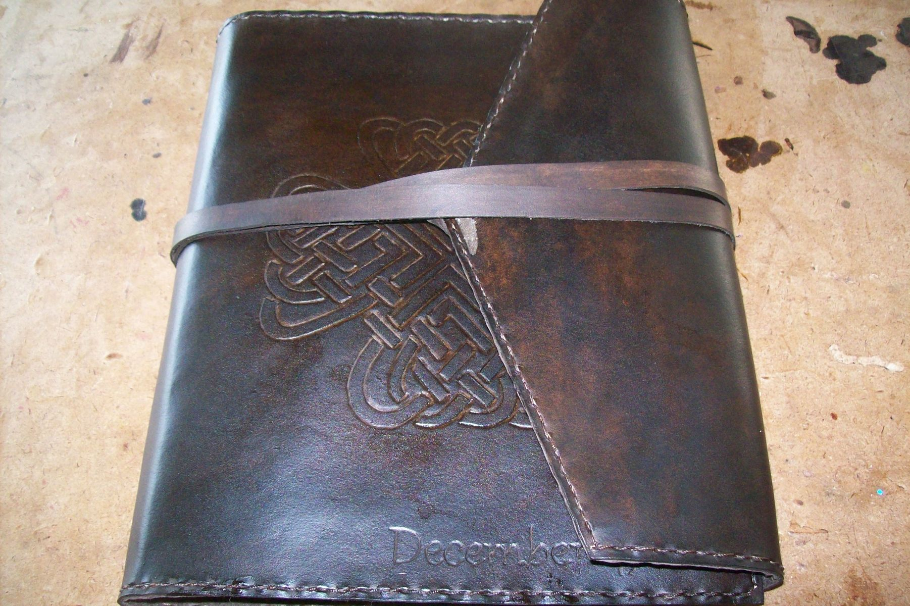 Buy A Hand Made Custom Leather Photo Album With Celtic