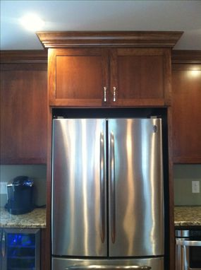 Custom Made Modern Cherry Custom Kitchen Cabinets