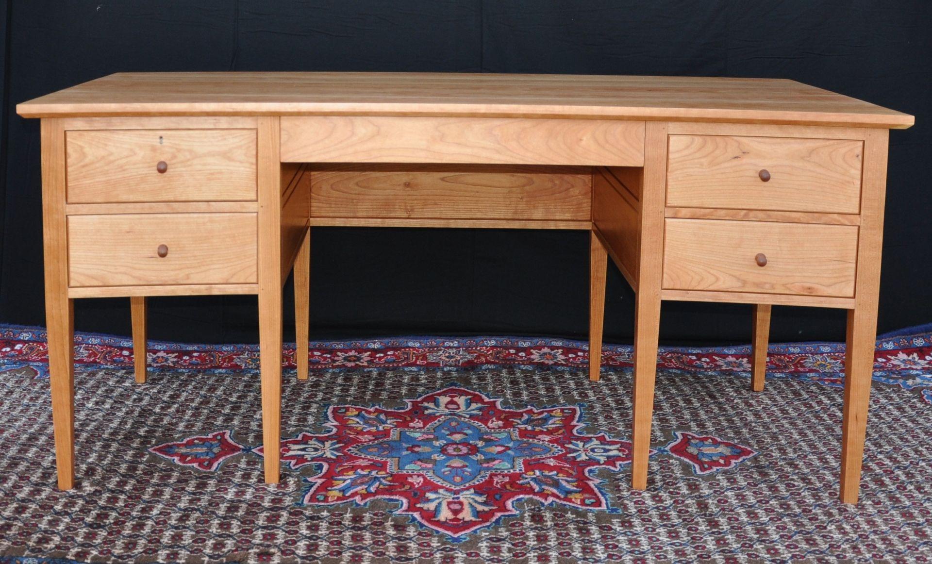 Custom executive desks - Custom Made Shaker Curved Cherry Executive Desk