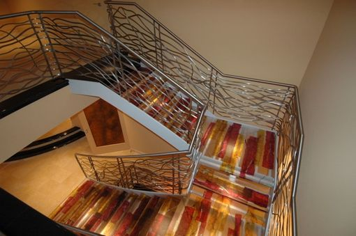 Custom Made Cast Glass Stairway