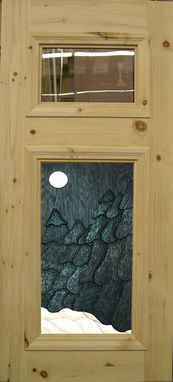 Custom Made Light Breeze Door With Artwork