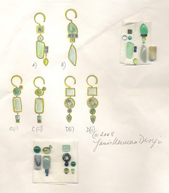 Custom Made Earrings From Stones And Idea To Final Product