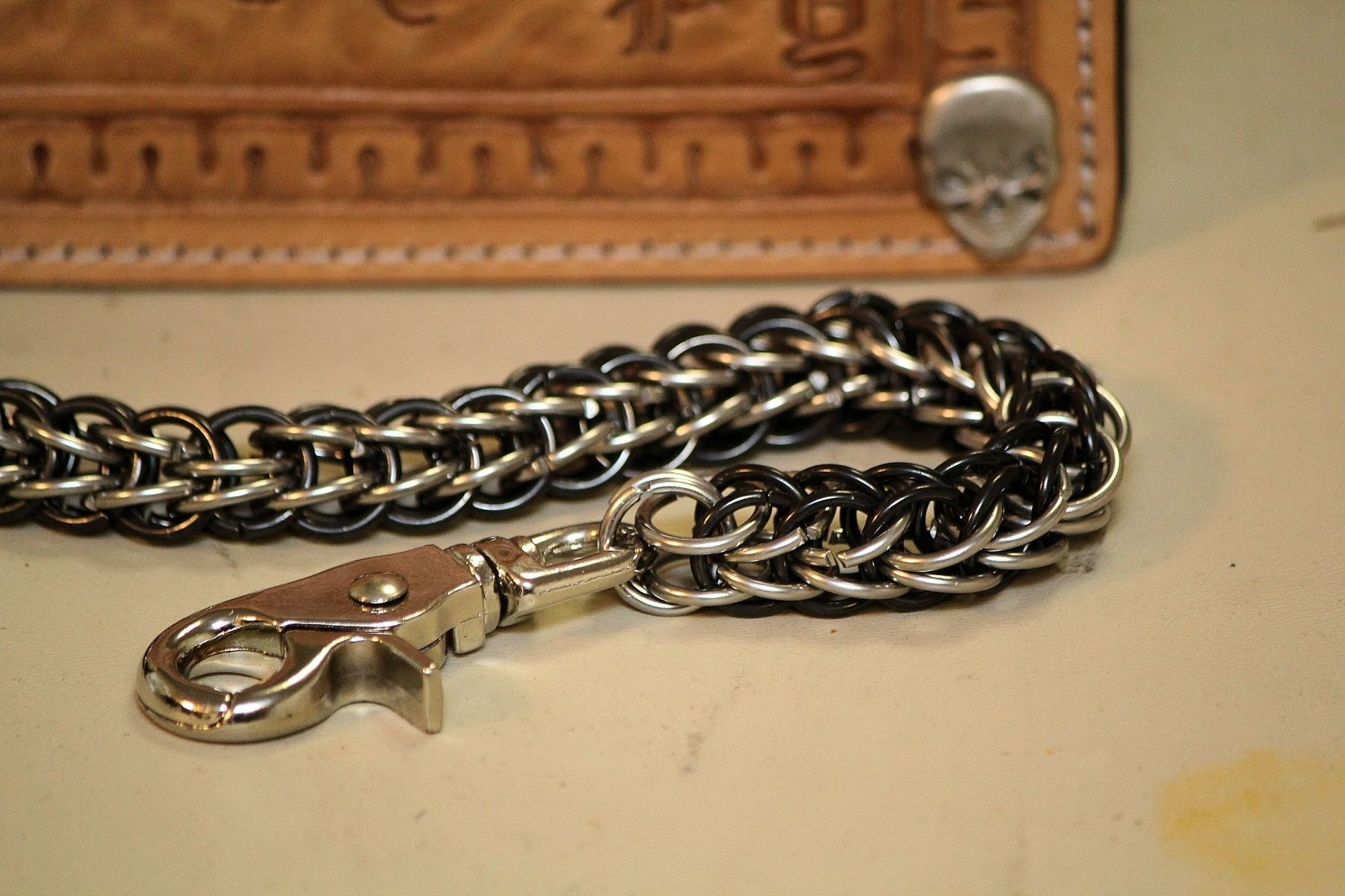 Custom Made By Hand Chainmail Trucker Biker Wallet Chains