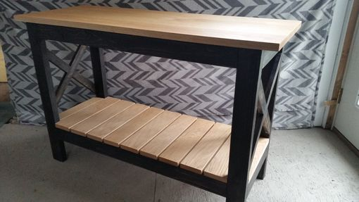 Custom Made Distressed Oak Entryway Table