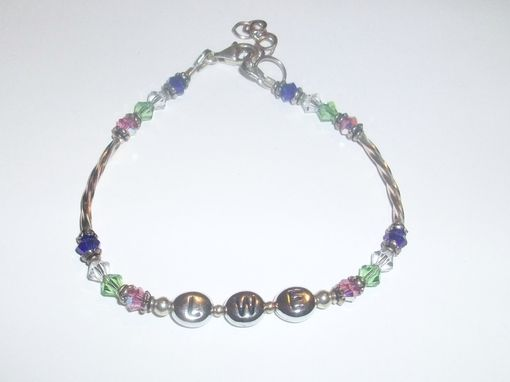 Custom Made Initial Bracelet, Personalized Bracelet