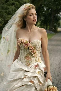 Custom Made Floral Corset Wedding Gown