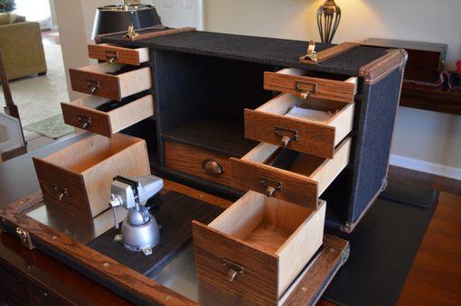 Buy A Handmade Steamer Trunk Gunsmith Workstation Made To