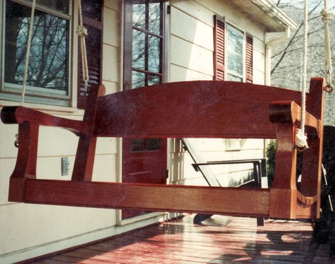 Custom Made Mahogany Porch Swing