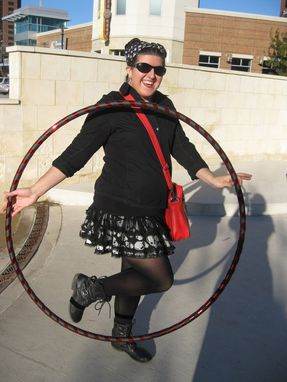 "Custom Made Collapsible Weighted Travel Hula Hoop - ""Goth Princess"" Red Headed Vampiress"