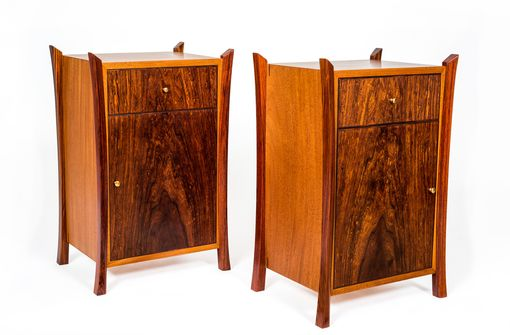 Custom Made Cocobolo Nightstands