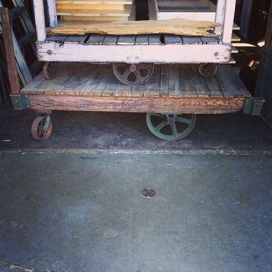 Custom Made Industrial Cart Tables