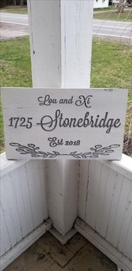 Custom Made Custom Address Sign