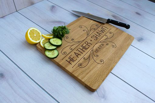 Custom Made Personalized Cutting Board, Engraved Cutting Board, Custom Wedding Gift – Cb-Wo-Heathershawn